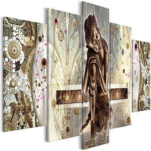 murando Cuadro en Lienzo Buda Zen 200x100 cm Impresión de 5 Piezas Material Tejido...