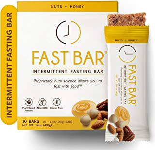 Sponsored Ad - Fast Bar , Nuts & Honey, Gluten Free, Plant Based Protein Bar For Weight Management & Intermittent Fasting ...