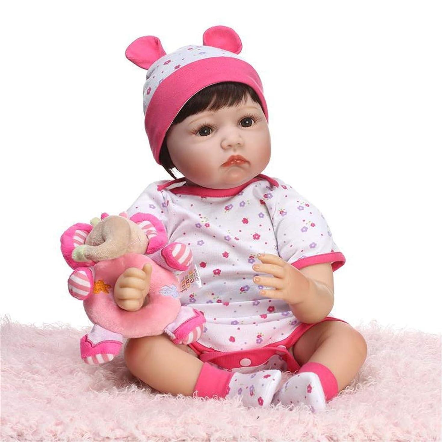 分析体操国歌子供のためのリボーン赤ちゃんの人形かわいい新生児女の子シリコンボディのリアルなリボーンドール21.6インチ55センチメートル美しい花の服偉大な誕生日プレゼント