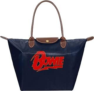 David Bowie Logo Waterproof Leather Folded Messenger Nylon Bag Travel Tote Hopping Folding School Handbags