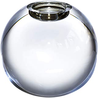 Le Sens Amazing Home Large Crystal Ball Candle Holder, 4.2 inches Height, 4.7 inches Width Prepackaged Elegant Heavy Solid Glass Tealight Holder Centerpiece for Home Decor, Wedding and Anniversary