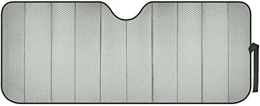 Motor Trend Front Windshield Sun shade - Accordion Folding Auto Sunshade for Car Truck SUV 58 x 24 Inch (Gray) - AS-311-GR_am