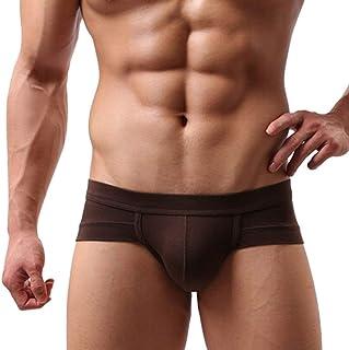 HaiDean Low Men's Cotton Briefs Pants Casual Classic Modern Fit Shorts Underwear Men's Fashion Solid Color Underpants