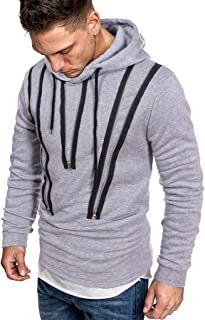 Sweat Zip Hood Felpa Uomo Autunno Manica Lunga Cerniera Felpa con Cappuccio Felpa Top Tee Outwear Camicetta