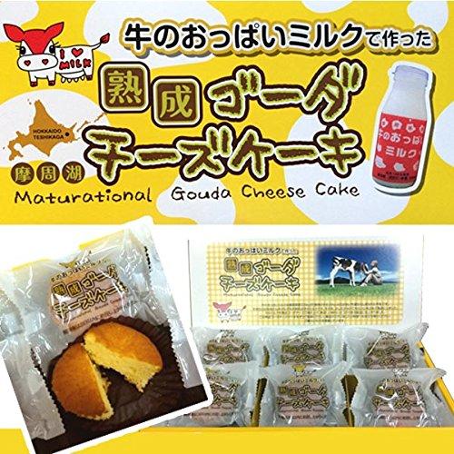 北海道の渡辺体験牧場 摩周草原 牛のおっぱいミルクで作った熟成ゴーダチーズケーキ