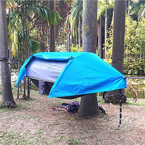 ZYQDRZ Carpa De Hamaca para Acampar, Equipo para Exteriores De Viaje De Mochila De Carpa De Hamaca para Dormir Portátil Ligero,Azul