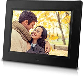 8 inch Digital Photo Frame, Play Music and Video, has Remote Control, Ultra Slim Design, Built-in 4GB Flash Memory