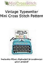 Vintage Typewriter Mini Cross Stitch Pattern
