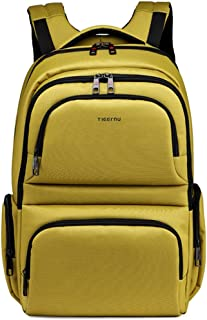 School Backpack Large Capacity Security Anti-Theft Computer Backpack 15.6 Inch Unisex School Waterproof Backpack QDDSP (Color : Yellow)