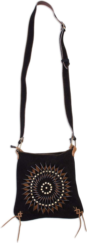 Surprise price Max 57% OFF NOVICA Black and Brown Suede Mesmerizing Shoulder Sun' Bag