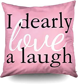 Pride Prejudice Pink Jane Austen Quote Decorative Throw Pillow Case 18X18Inch,Home Decoration Pillowcase Zippered Pillow Covers Cushion Cover with Words for Book Lover Worm Sofa Couch