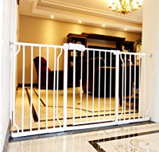 Fairy Baby Extra Wide Baby Gate with Extensions for Stairs Walk Through Easy Auto Close Child Pets Safety Gate,Fits Spaces Between 38.58