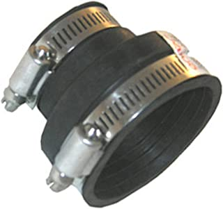 LASCO 25-6819 Flexible Rubber Connector for Drain Pipe with Clamps for 3