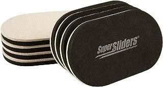 """SuperSliders 4705395N Reusable XL Heavy Furniture Sliders for Hardwood Floors- Felt Floor Protectors, 9-1/2"""" x 5-3/4"""" Linen (8 Pieces)"""