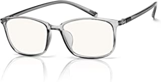 SIPHEW Anti Blue Light Glasse 0.0 Magnification-Anti Glare Relieve Eyes Fatigue and Headache-Blue Light Blocking Glasses