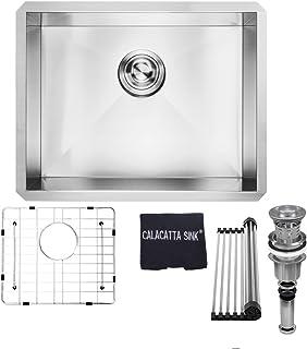 CS3219DB 32 x 19 Stainless Steel 304 Handmade Undermount Double Bowl Kitchen Sink 16 Gauge w//Drain Strainer Grid /& Dish Cloth