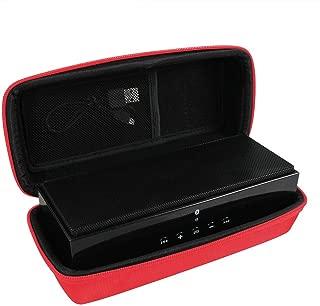 Hermitshell Hard EVA Travel Red Case Fits AmazonBasics Wireless Bluetooth Dual 3W Speaker (Model: BTV1)