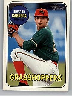 2018 Topps Heritage Minor League Baseball #33 Edward Cabrera Greensboro Grasshoppers Official MILB Trading Card