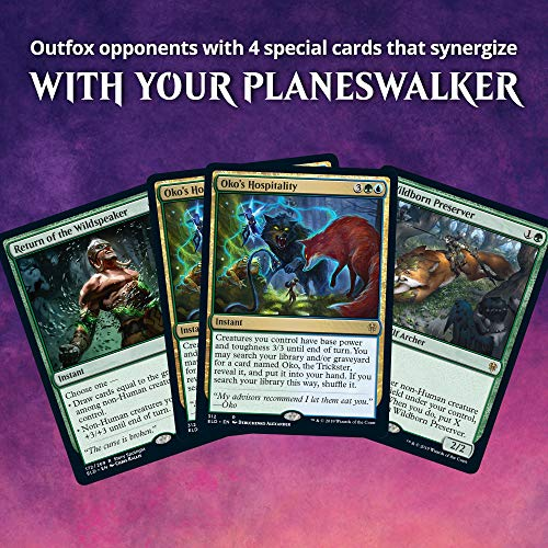Magic The Gathering Throne of Eldraine Oko, The Trickster Planeswalker Deck | Ready-to-Play | 60-Card Starter Deck