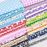 25cm X 25cm / 50cm X 50cm Of 20/40 Pieces Of Printed Fabrics Cotton And Rice Fabric Cotton Patchwork Fabric Residual Fabric Creative Sewing