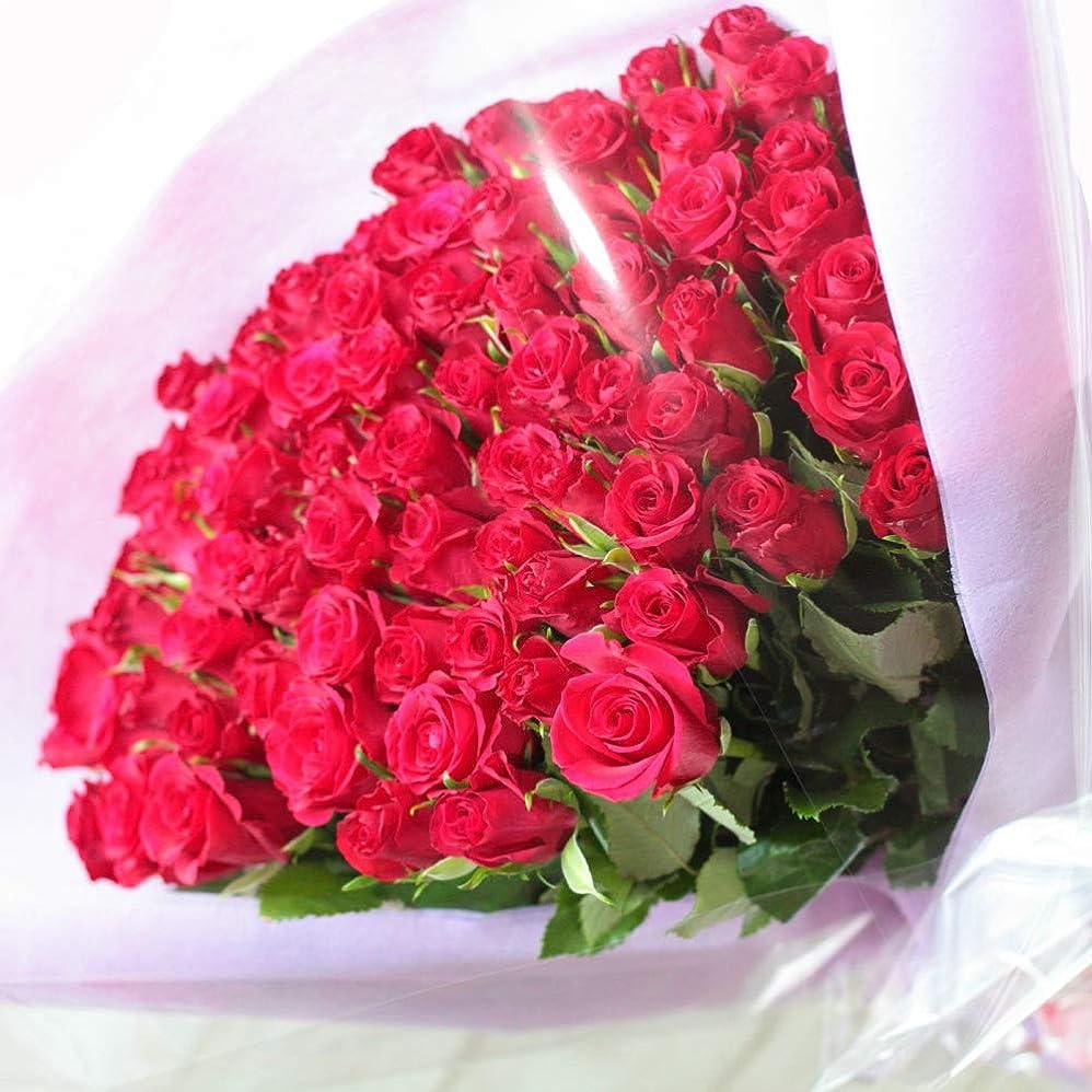 カバレッジ中央階下[ビズフラワー]【花束バラ お祝い 80本】BisesFlower 傘寿 レッド 薔薇 家族 両親 記念日 お祝い 感謝 誕生日