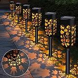 Luces Solares Jardín LED, Lamparas Solar para Jardin, Luz Solares Exterior Jardin IP65 Impermeables Iluminación de Exterior, Luces Solar para Jardin Exterior para Camino Césped Patio – 6 Piezas