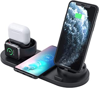 Innoo Tech Wireless Charger, 6 in 1 Wireless Fast Charging Station for Apple Watch/AirPods Pro/iPhone 12/11/11pro/11pro Ma...