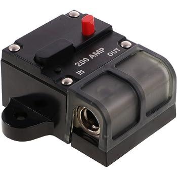 2stk 12V//50A und 80A Automatische Sicherung Schalter für Auto Kfz LKW Boot,
