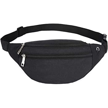 White Cat Running Lumbar Pack For Travel Outdoor Sports Walking Travel Waist Pack,travel Pocket With Adjustable Belt