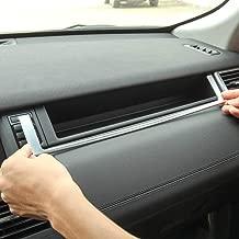 TongSheng ABS Chrome Co-Pilot Dashboard U Shape Frame Cover Trim 1pc for Land Rover Discovery Sport 2015-17