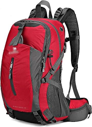 MXRa Sacs de Trekking Sports de Plein air Camping Randonnée Sac à Dos imperméable Sac d'alpinisme pour Voyager Trekking (Disponible en 4 Couleurs) (Couleur   rouge)