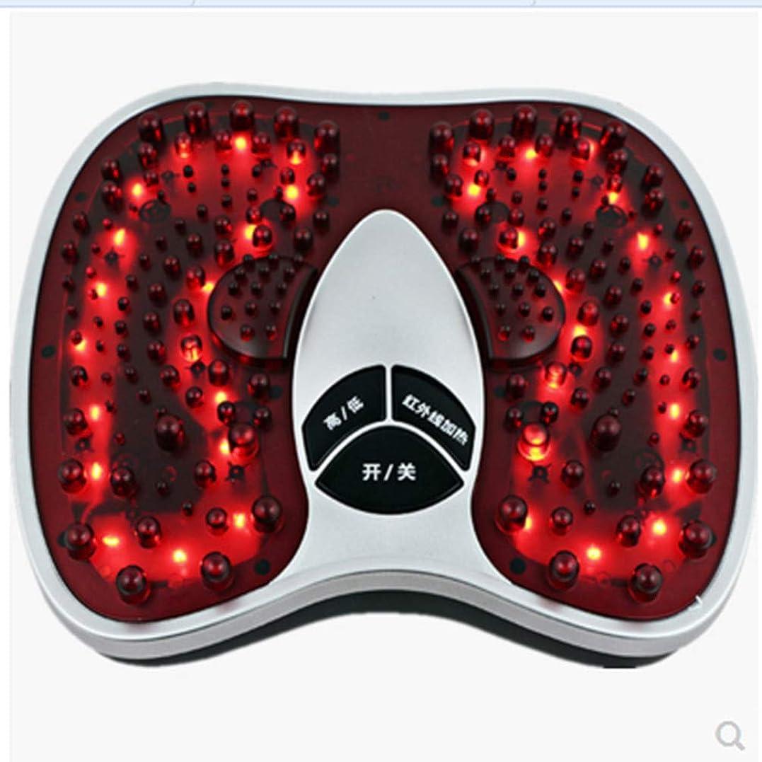 エイリアン輸送変成器フットマッサージ(熱を含む)、フルマッサージを体験する202マッサージヘッド、硬い筋肉を柔らかくする、循環を改善する、痛みを軽減する治療, red