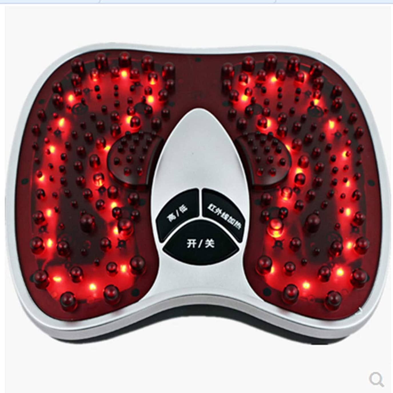 椅子東重要調整可能 フットマッサージ(熱を含む)、フルマッサージを体験する202マッサージヘッド、硬い筋肉を柔らかくする、循環を改善する、痛みを軽減する治療 リラックス, red