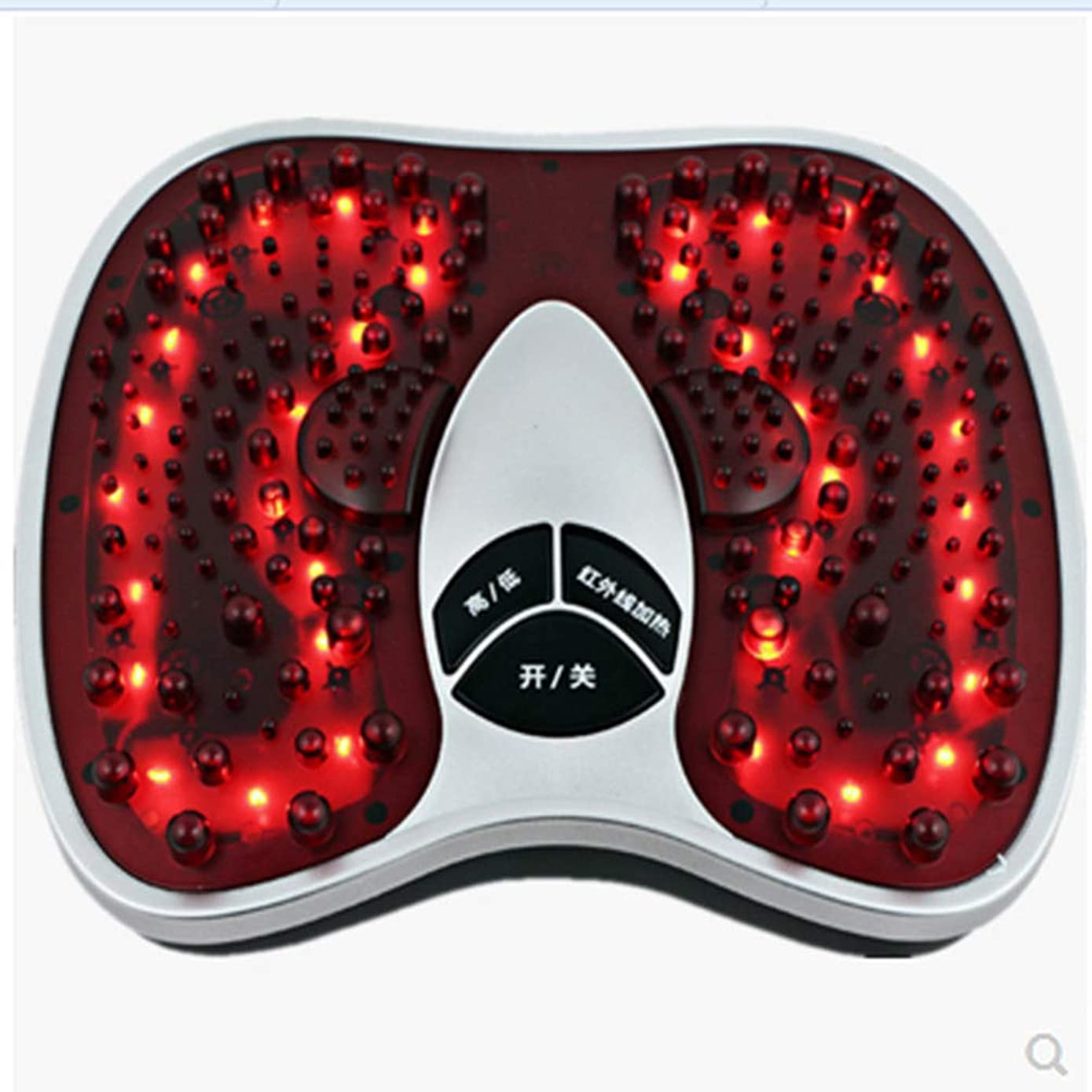 ソビエト支払い苦味電気の フットマッサージ(熱を含む)、フルマッサージを体験する202マッサージヘッド、硬い筋肉を柔らかくする、循環を改善する、痛みを軽減する治療 人間工学的デザイン, red