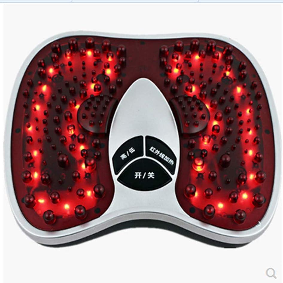 パワーログペルセウス電気の フットマッサージ(熱を含む)、フルマッサージを体験する202マッサージヘッド、硬い筋肉を柔らかくする、循環を改善する、痛みを軽減する治療 人間工学的デザイン, red