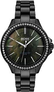 Hugo Boss Womens Quartz Watch, Analog Display And Ceramic Strap 1502456