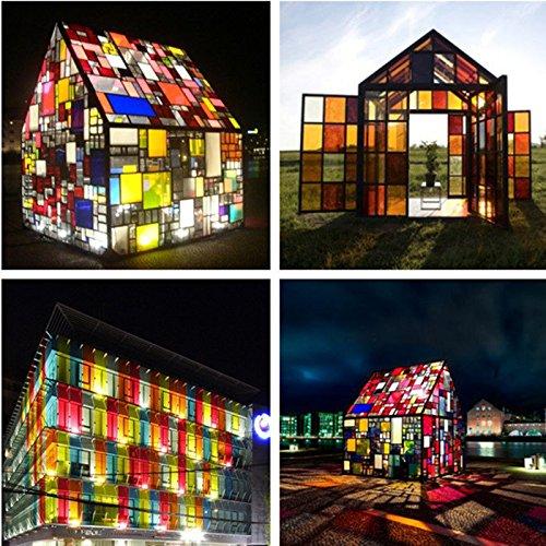 Bazaar 152 x 66 cm kleurrijke glasfolie transparant zonwering thermische isolatie raamdecoratie