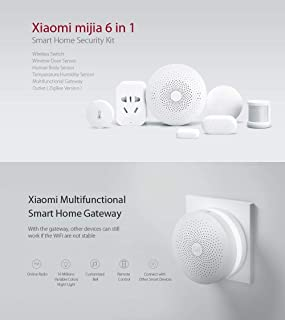 Xiaomi Mijia 6 in 1 Smart Home Security Kit Wireless Switch/Window Door/Human Body/Temperature Humidity Sensor/Multi functional Gateway/Outlet