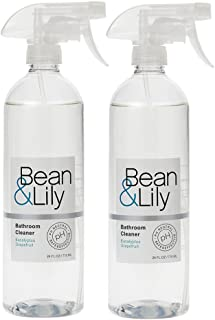Bean & Lily Bathroom Cleaner - Plant Based, pH Neutral, Pet-Safe, Non-Toxic - Eucalyptus Grapefruit - Pack of 2: 24oz Bottles
