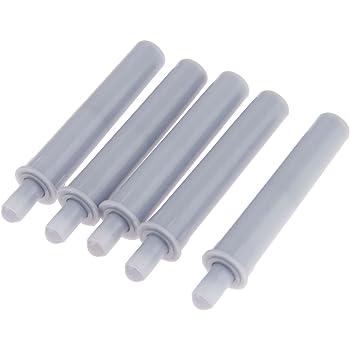 grey Set of 10 pcs Emuca 1275021 Door dumper//buffer for cabinet//drawer