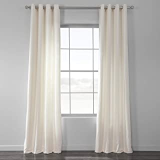 HPD Half Price Drapes BWLK-1852-120-GR Cotton Textured BarkWeave Grommet Curtain (1 Panel), 50 X 120, Off White