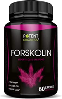 100% Pure Forskolin Extract – 250mg Capsules – Premium Weight Loss Support & Carb Blocker – 20% Standartized – Metabolism Booster for Active Life & Healthy Diet – 60 Pills