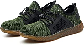 Safety Work Shoes Men Steel Toe Sneaker Industrial Construction Puncture Proof Shoes Lightweight Breathable Mesh Non-Slip ...