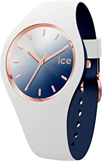 ICE duo chic White marine - Women's wristwatch with silicon strap - 016983 (Medium)