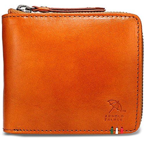 [アーノルドパーマー] 財布 メンズ 二つ折り財布 本革 イタリーレザー APS-3309 (tan)
