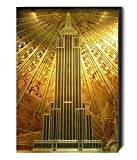 FAB Empire State Building–Style Art déco–Décoration murale sur toile Affiche encadrée–Différentes tailles, A1 32x24 inches