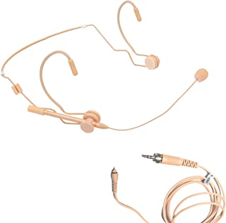 AV-JEFES 637D 35LS Mini Headset with Dual Earhook and Detachable Cable for Sennheiser, Awisco Wireless Microphone