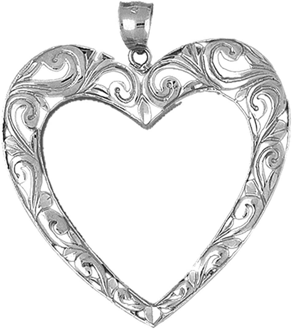 Jewels Obsession Heart Pendant Max 66% OFF Silver 925 Ranking TOP13 Penda Sterling