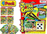 JA-RU Fake Lottery Ticket Scratch Tickets (20 Tickets / 4 Packs) Pranking Toys for Friend and Family Scratcher Jokes and Gag Winning Tickets Surprise. 1381-4p