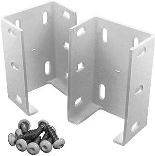 2 Packs Aluminum Fence Rail Bracket Heavy Duty Metal Outdoor Garden Vinyl Fence.